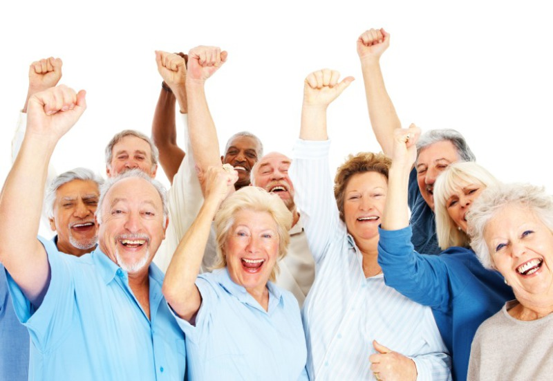 active seniors excited to exercise