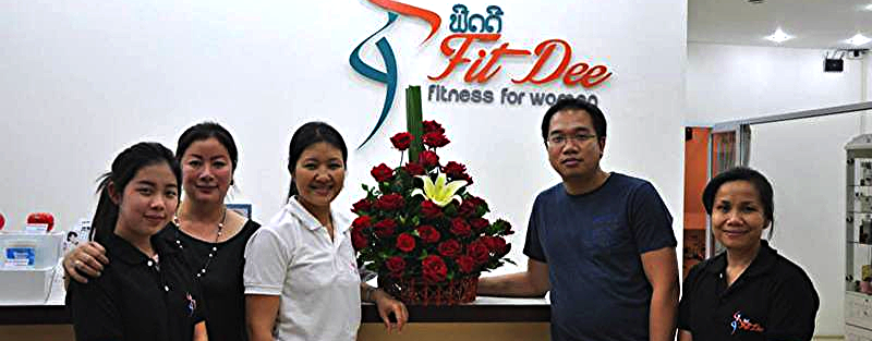 Fit Dee first ladies fitness in Laos uses AeroStrength